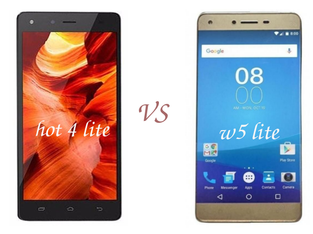 tecno w5 lite vs hot 4 lite difference and similarities