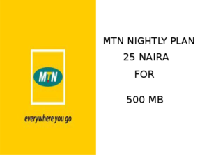Mtn mid night plan for 25 naira